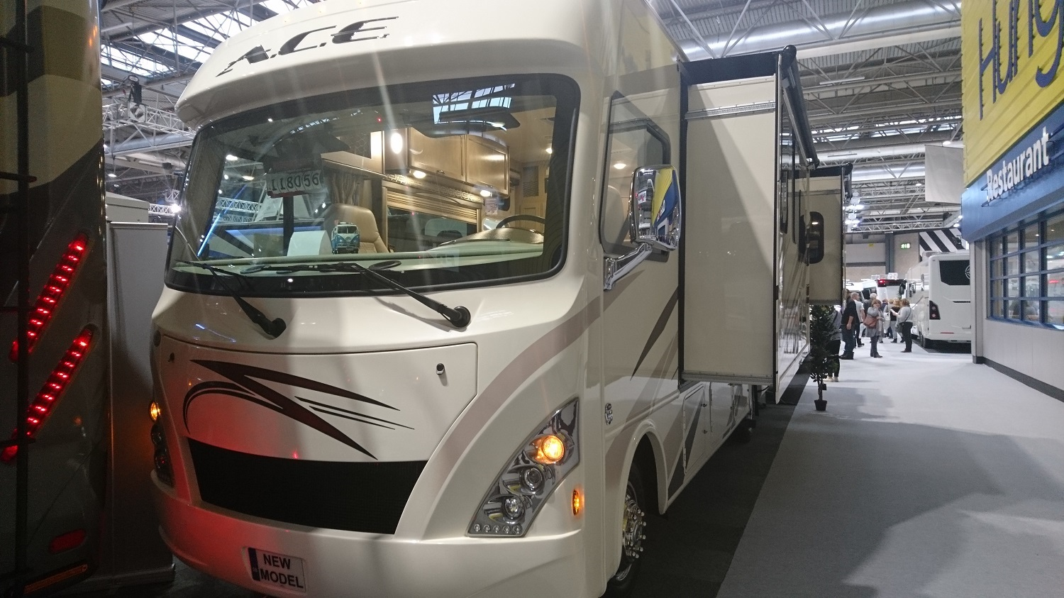 HGV sized motorhome with slide out sides
